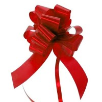 Super Red - Pull Bows - Pack of 30 x 30mm