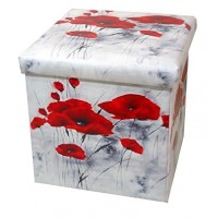 Poppy Collapsible Small Padded Ottoman Storage Box 36cm