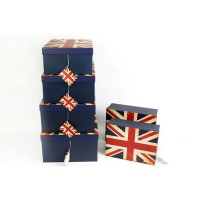 Union Jack Storage Boxes - Set of 6